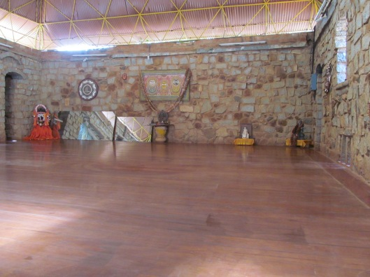 The floor for practicing dance
