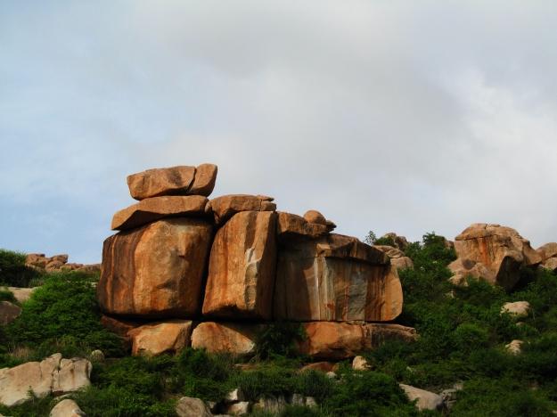 Boulder laden Hampi